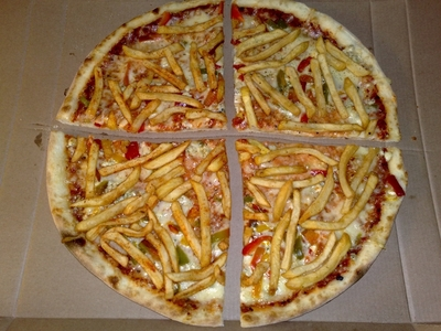 French fry pizza Amazing