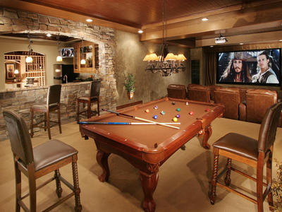 This looks like a nice man cave.