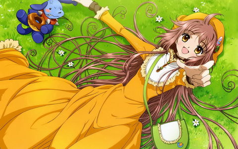 Kobato! I have a huge girl crush on her >.< She is so cute and innocent, i just wanna hug her XD