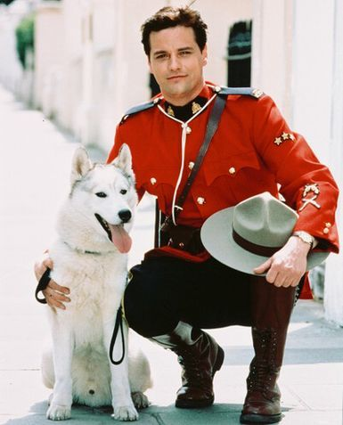 """Paul Gross from """"Due South"""" wearing red."""
