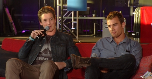 my yummy Theo with Divergent co-star,Miles Teller<3