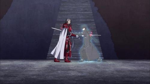 Kirito from Sword Art Online.