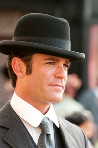 """Yannick Bisson from """"Murdoch Mysteries"""" looking old fashioned."""