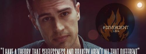 my sexy Theo with a quote from Divergent<3