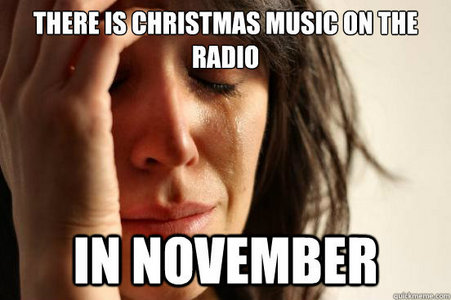 I Don't Despise Any Christmas Songs :3 In Fact I Wait For Them All jaar Round To Be On My Radio Station....But door The Time They Finally Stop Playing, I Can't Wait To Get Rid Of Them lol