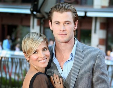 Chris Hemsworth and his beautiful wife<3