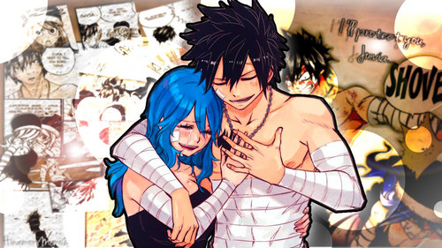 Gray and Juvia from Fairy Tail.