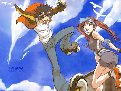 """Air Gear. I honestly don't know why I watched it or enjoyed it. The ecchi cup was filled to the brim with that show and it got REALLY cheesy sometimes. Also... and this isn't an anime (if it ever got turned into one, I refuse to watch it)... a little something called """"no money"""" MAY have found its way into my readings of manga.... eh heh...."""