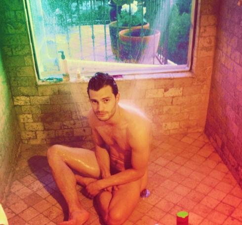 Jamie Dornan naked in the shower<3