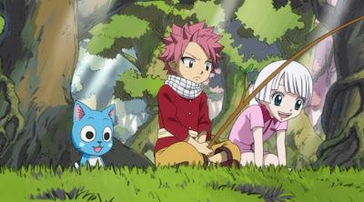 Happy,Natsu and Lisanna ! So cute!!