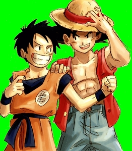 It's got to be a tie between Luffy and Goku.