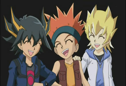 Yusei , カラス , and Jack from Yu-Gi-Oh 5ds as kids