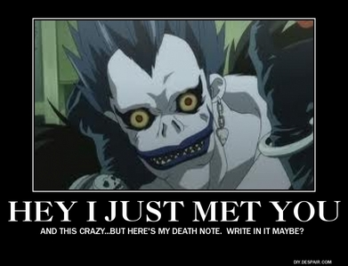 Ha xD A Shinigami (God Of Death) From Deathnote!