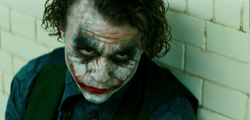 Heath Ledger as Joker in The Dark Knight. One of the greatest performances in the history of film, respect. <3