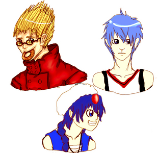 mine are here: Vash(Trigun) Aladdin (Magi) Kuroko(Kurokos Basketball)  L(Death Note) kyo(Fruit Basket) Ichigo(Bleach)