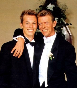 Bowie + son Zowie Bowie (now Duncan Jones)