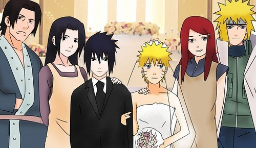 It's SasuNaru's Wedding xD Sasuke X NARUTO -ナルト- FOREVER~! (Naruto Is The Uke lol)