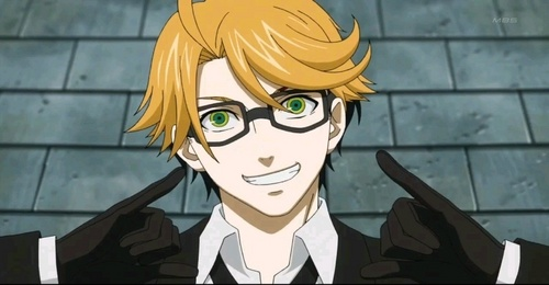 Ronald Knox from Black Butler He only appeared in one episode in the anime In the manga he was in it longer