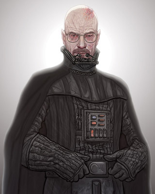 Mr. White's bald head!