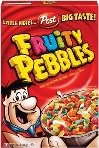 Fruity pebbles, however they don't sell them in the city where I live and that sucks. I live in Canada, so it's like they just stopped making them, I haven't eaten them since I was a child. It makes me so mad. I also really like Trix(which is also not sold in Canada anymore), cherrios and captn' crunch