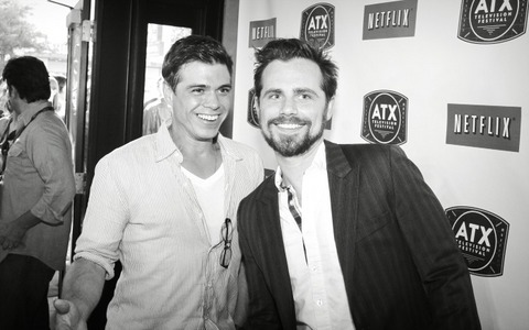 Matthew and Rider Strong in B+W :)