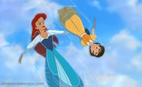 A tie between Ariel and Melody, both from Disney's The Little Mermaid franchise