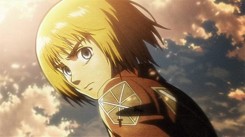 """Armin Arlert from Attack on Titan. And there are [i]still[/i] idiots who believe that Du have to possess skill in physical battle to be """"useful""""."""