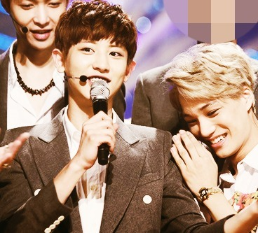 [i]My fav 3 members of EXO: Kai, Chanyeol, Lay, they're also my fav trio!