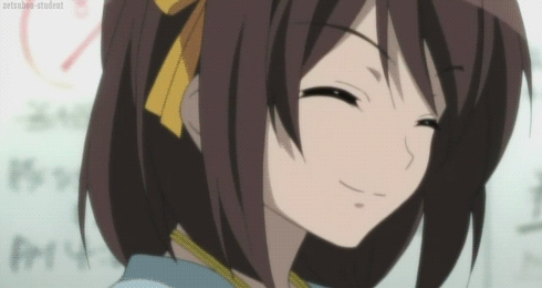 Favorite- Haruhi, she is imaginative and unique. Least favorite- Ryoko.. 哈哈 i have nothing nice to say about her.