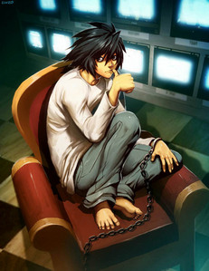 L from Death Note.