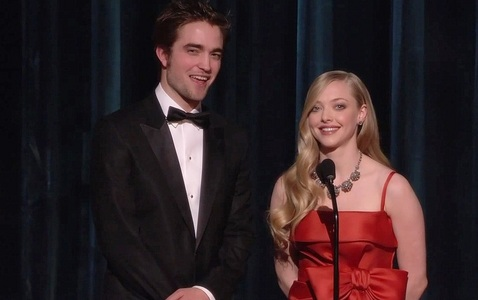 my gorgeous British babe Robert,presenting an award with Amanda Seyfried at the 2009 Academy Awards<3