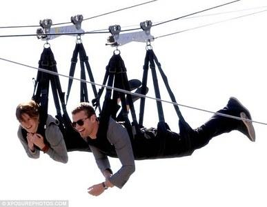 Theo and Shailene ziplining<3