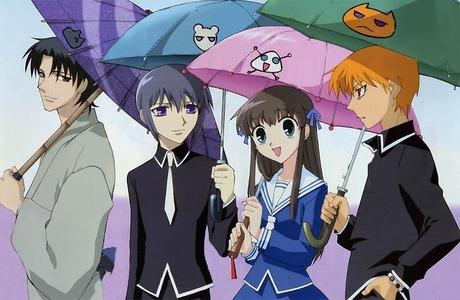 Shigure, Yuki, Tohru, and Kyo from Fruits Basket ^-^