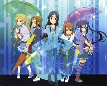 Tsumugi Kotobuki, Ritsu Tainaka, Mio Akiyama, Hirasawa Yui, and Azusa nakano from K-ON!!