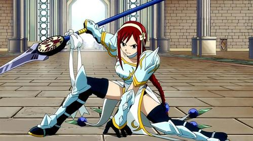 Erza Scarlet (Fairy Tail) Erza Scarlet in Lightning Empress Armor