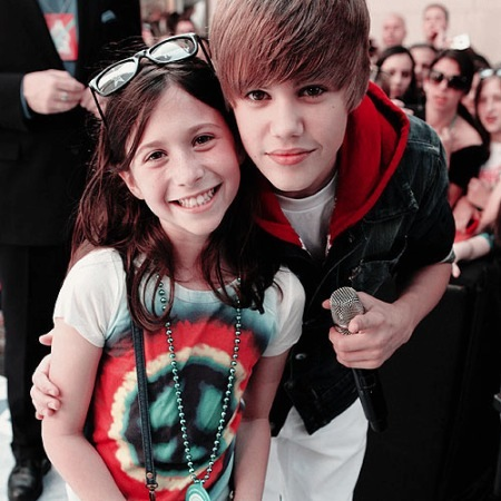 Justin and fan.