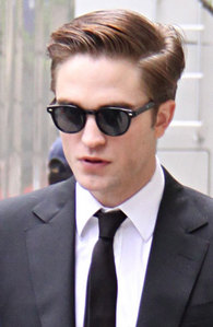 my sexy Rob with his hair parted<3