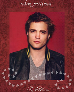 my sexy Rob with a red background<3