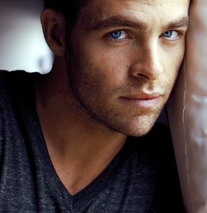 Chris Pine and the whites of his beautiful blue eyes<3