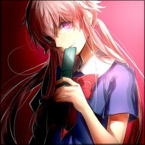 Yuno Gasai from The Future Diary. Ah dear, sweet, psychotic Yuno...