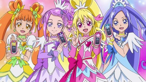 Try Doki Doki Pretty Cure! It does have a hot guy, but he's a supporting character, it's funny, and is awesome!