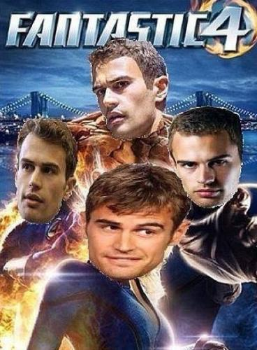 my Fantastic Four(played 由 Theo James)<3