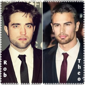 my 2 main British heartthrobs,Robert and Theo<3