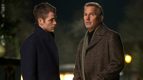 Kevin Costner with Chris Pine<3