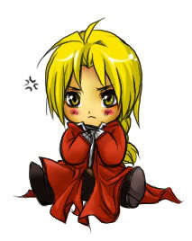 Edward Elric is naturally a chibi! xD