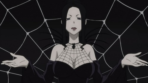 Arachne (Soul Eater) She is the powerful with of all.......and she is also known as the mother of all Demon Weapons.........he he ehe
