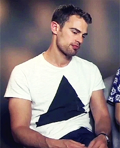 my gorgeous Theo in a white shirt<3
