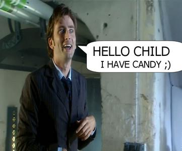 Hai kids HE HAS キャンディー AND HES CUTE!