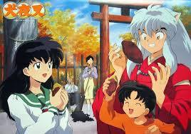 Kagome and Sota from my favorito anime, InuYasha! In this picture, I think InuYasha, Kagome, and Sota are celebrating something...