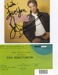 My signature and ticket to see him :)
